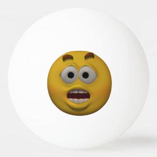 3D Stijl Bange Emoticon Pingpongbal
