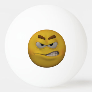 3D Stijl Boze Emoticon Pingpongbal