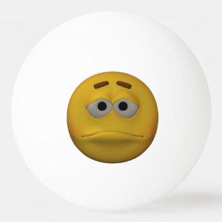 3D Stijl Droevige Emoticon Pingpongbal