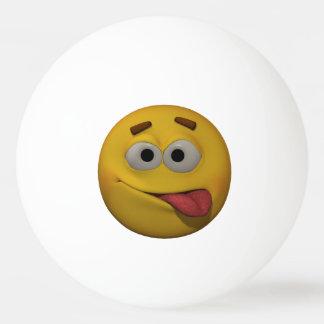 3D Stijl Playfull Emoticon Pingpongbal