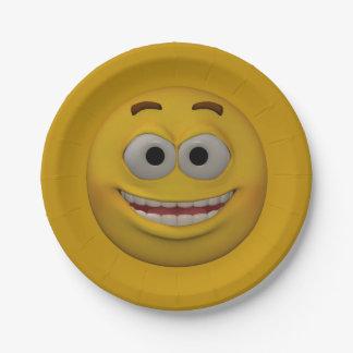 3D Stijl Smiley 3 Papieren Bordje