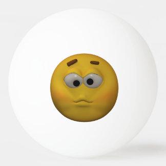 3D Stijl Zieke Emoticon Pingpongbal