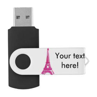 3d toren van Eiffel, Frankrijk clipart USB Stick
