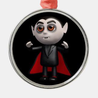 3d Tribunes Dracula! Zilverkleurig Rond Ornament