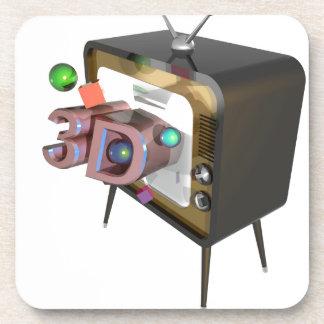 3D TV DRANKJES ONDERZETTERS