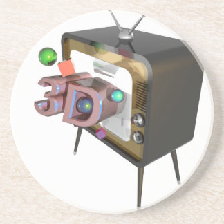 3D TV ZANDSTEEN ONDERZETTER