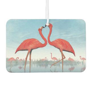 3D vrijage van flamingo's - geef terug Luchtverfrisser