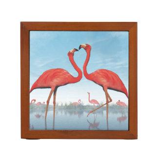 3D vrijage van flamingo's - geef terug Pennenhouder