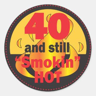 40 en nog de Hete | 40ste Verjaardag van Smokin Ronde Sticker