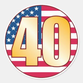 40 het Goud van de V.S. Ronde Sticker