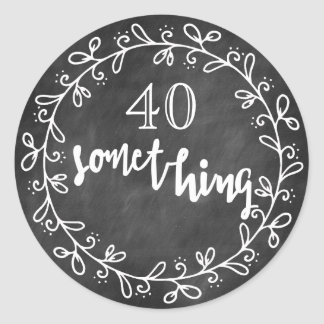 40 iets - 40ste Verjaardag & op de Stickers van de