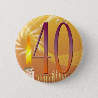 40 jaar oud! ronde button 5,7 cm