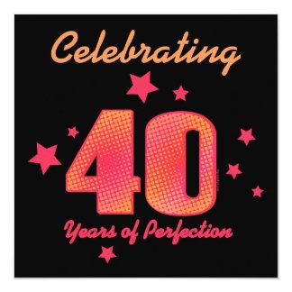 40 jaar van de Uitnodiging van de Verjaardag van