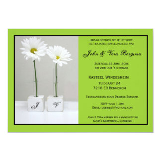 40 Jarig huwelijksfeest 12,7x17,8 Uitnodiging Kaart