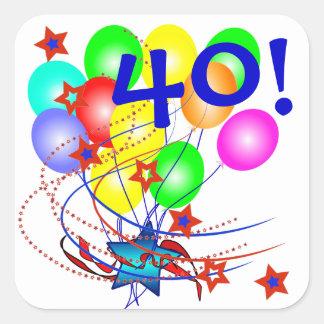 40! Of Om het even welke Stickers van de Ballons