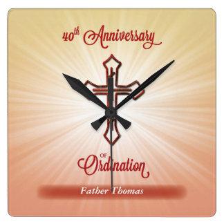 40ste Jubileum van Ordening, Vierkante Gift Vierkante Klok