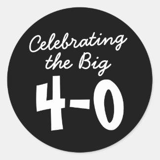 40ste Verjaardag die de Grote 4-0 Stickers vieren