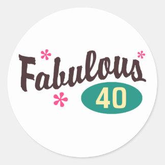 40ste Verjaardag Ronde Sticker