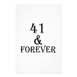 41 en voor altijd het Design van de Verjaardag Briefpapier