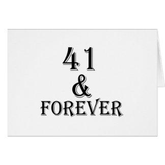 41 en voor altijd het Design van de Verjaardag Kaart