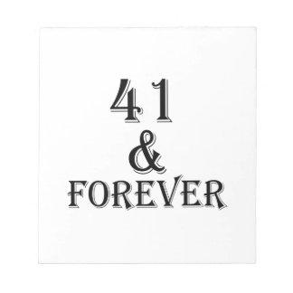 41 en voor altijd het Design van de Verjaardag Notitieblok