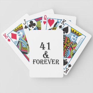 41 en voor altijd het Design van de Verjaardag Poker Kaarten