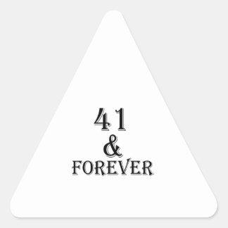 41 en voor altijd het Design van de Verjaardag Stickers