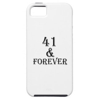 41 en voor altijd het Design van de Verjaardag Tough iPhone 5 Hoesje