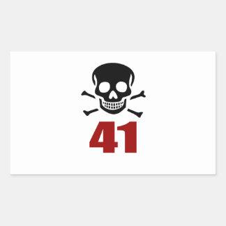 41 het Design van de verjaardag Rechthoekige Sticker