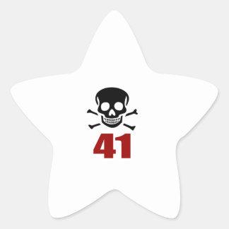 41 het Design van de verjaardag Ster Sticker