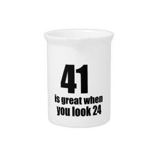 41 is Groot wanneer u Verjaardag kijkt Drank Pitcher