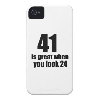 41 is Groot wanneer u Verjaardag kijkt iPhone 4 Hoesje