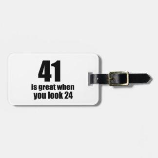 41 is Groot wanneer u Verjaardag kijkt Kofferlabels