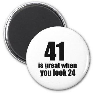41 is Groot wanneer u Verjaardag kijkt Magneet