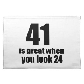 41 is Groot wanneer u Verjaardag kijkt Placemat