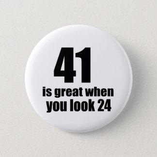 41 is Groot wanneer u Verjaardag kijkt Ronde Button 5,7 Cm