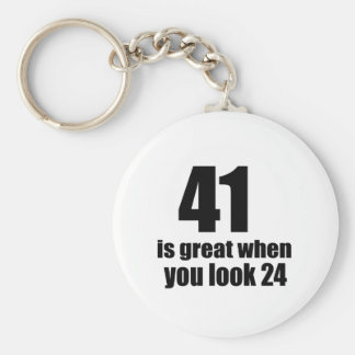41 is Groot wanneer u Verjaardag kijkt Sleutelhanger