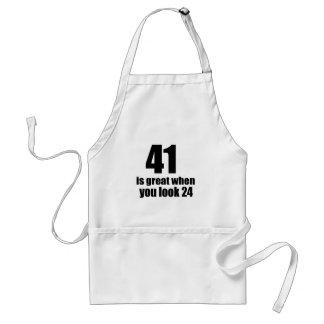 41 is Groot wanneer u Verjaardag kijkt Standaard Schort