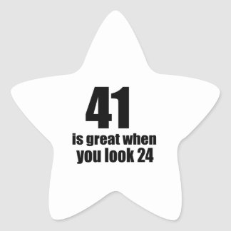 41 is Groot wanneer u Verjaardag kijkt Ster Sticker