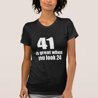 41 is Groot wanneer u Verjaardag kijkt T Shirt