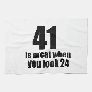 41 is Groot wanneer u Verjaardag kijkt Theedoek
