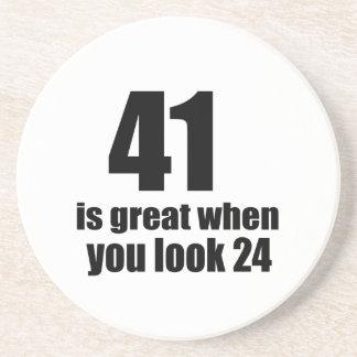 41 is Groot wanneer u Verjaardag kijkt Zandsteen Onderzetter