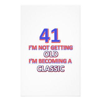 41 verjaardagsdesign briefpapier