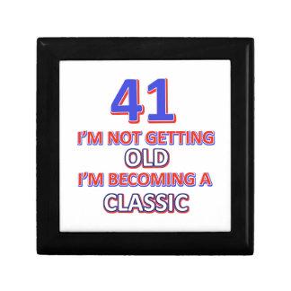 41 verjaardagsdesign decoratiedoosje
