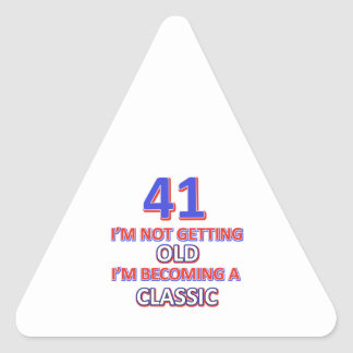 41 verjaardagsdesign driehoek stickers