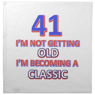 41 verjaardagsdesign katoenen servet