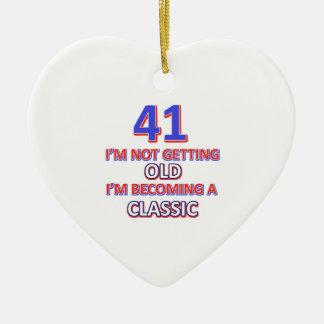 41 verjaardagsdesign keramisch hart ornament