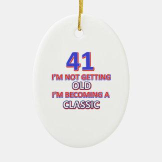 41 verjaardagsdesign keramisch ovaal ornament