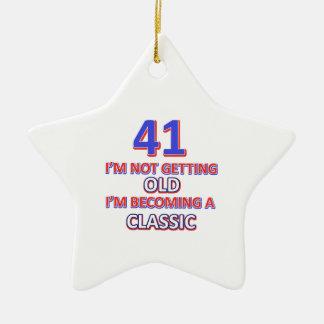 41 verjaardagsdesign keramisch ster ornament