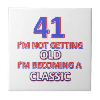 41 verjaardagsdesign keramisch tegeltje